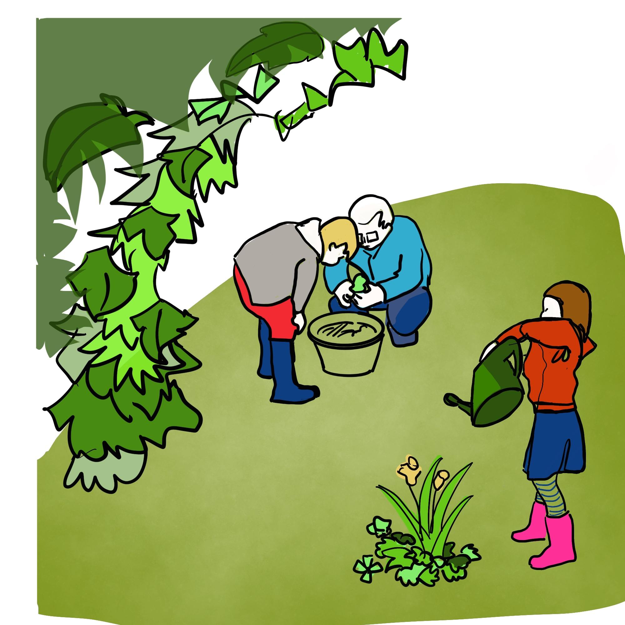 Séance de jardinage